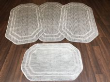 ROMANY WASHABLES NEW GYPSY SET OF 4PCS SILVER/GREY MATS NON SLIP TOURER SIZE